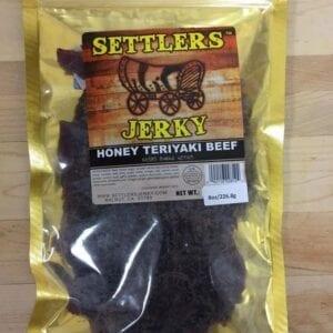 A honey teriyaki beef jerky in a pack