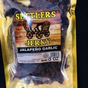 A jalapeno garlic beef jerky