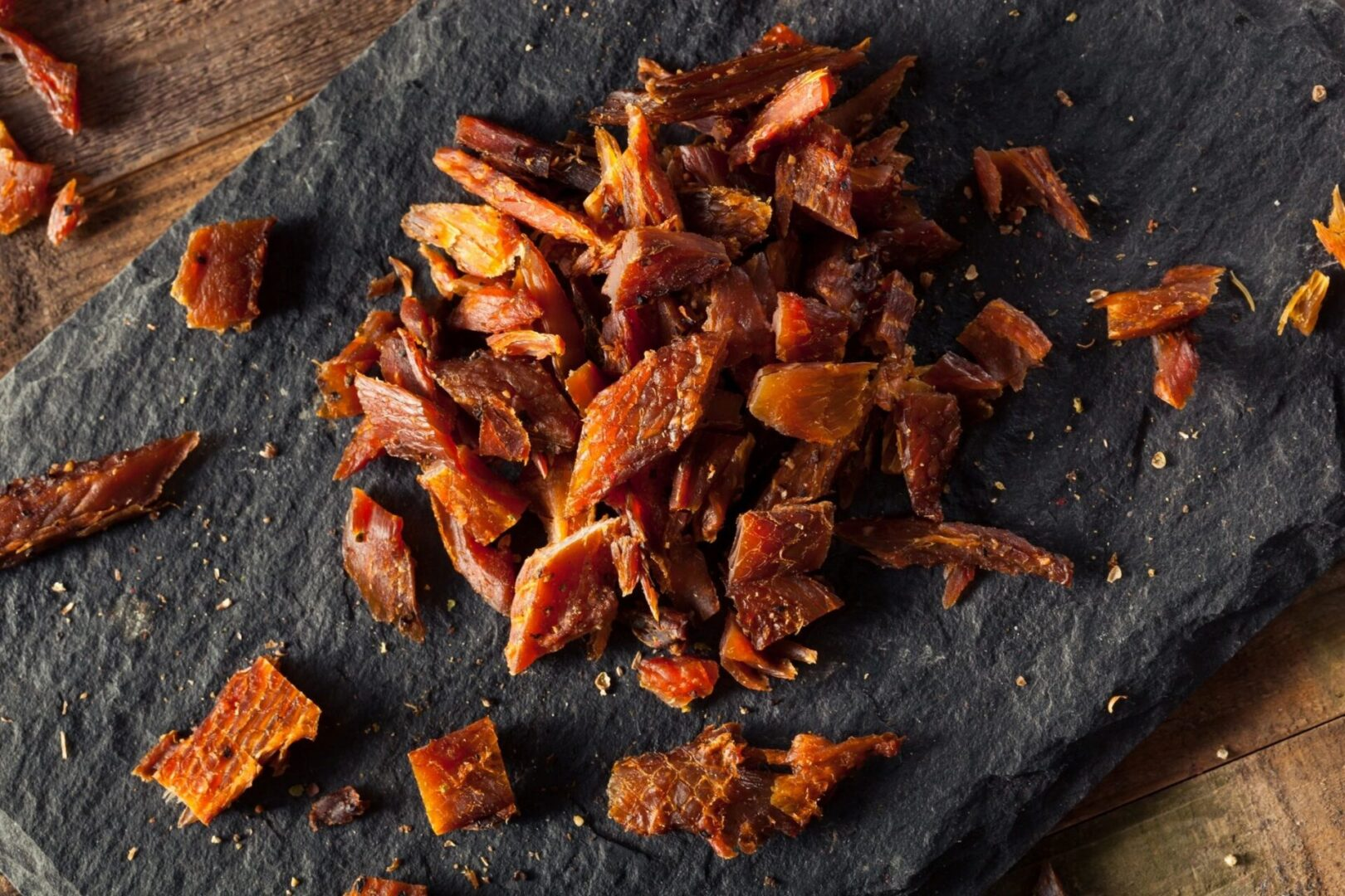 A pile of jerky